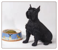 Schnauzer - Black Lifesize Dog Figurine Urn