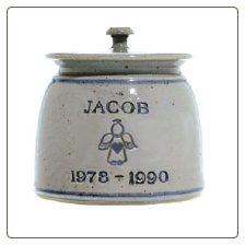 Personalized Pottery Angel Pet Urn