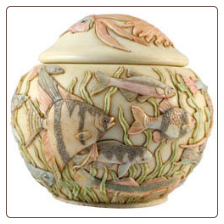 Water Meadow Pet Keepsake Urn by Jardinia Harmony Ball